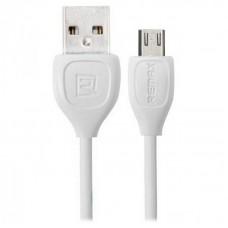 USB кабель REMAX RC-050m microUSB (белый)